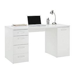 Schreibtisch weiß modern  Schreibtisch in Weiß Hochglanz online kaufen ➤ mömax