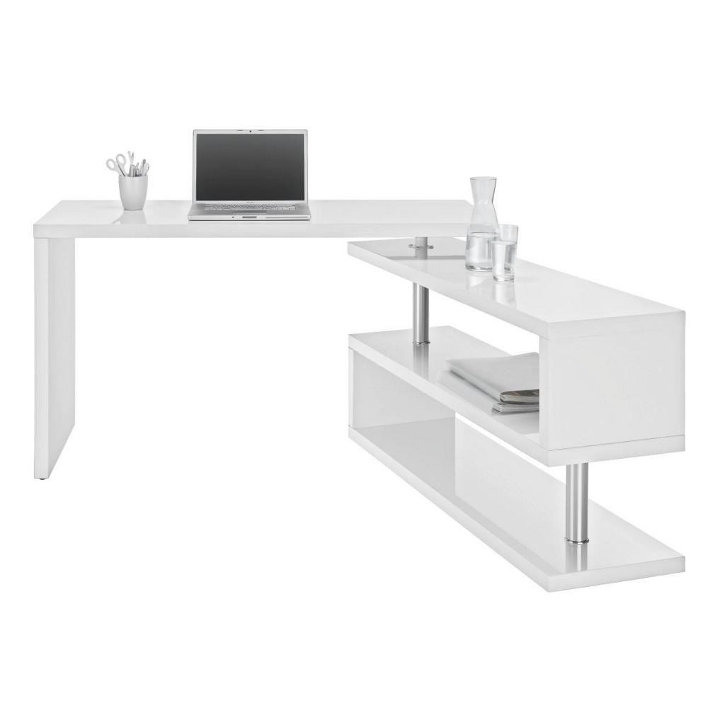 Schreibtisch in Weiß Hochglanz