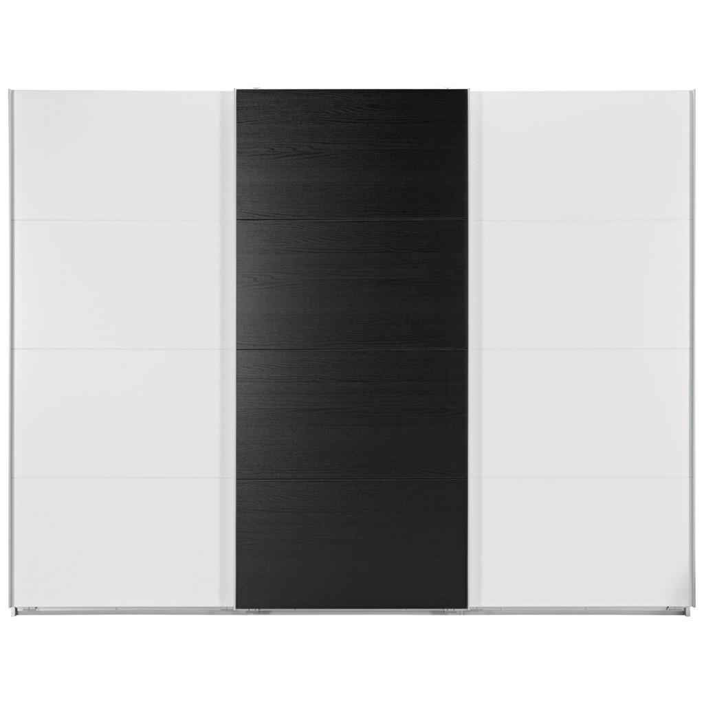 Schwebetürenschrank in Schwarz/Weiß