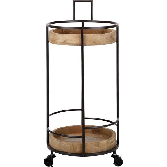 servierwagen in natur schwarz online kaufen m max. Black Bedroom Furniture Sets. Home Design Ideas