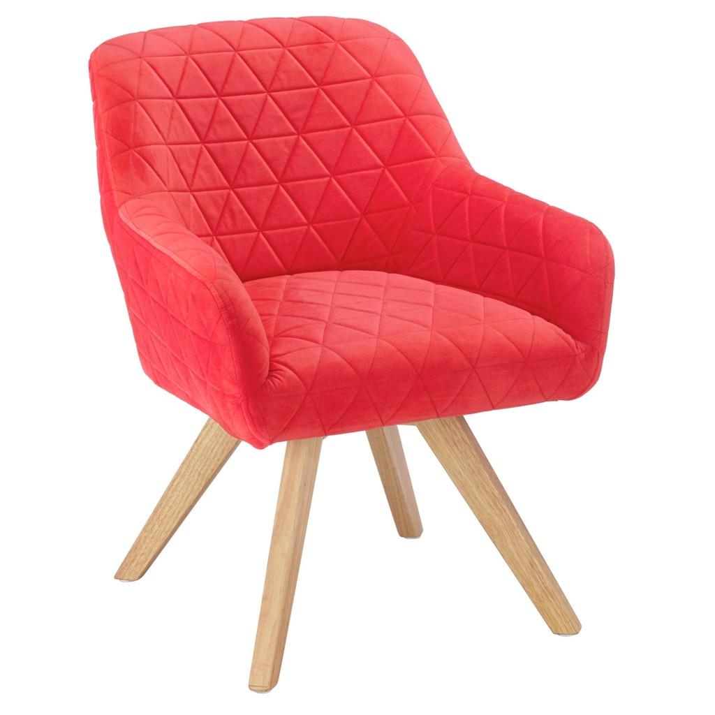 Sessel in Rot aus Kautschukholz