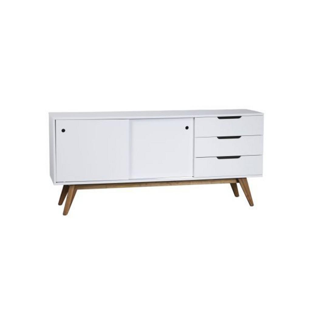Sideboard in Natur/Weiß