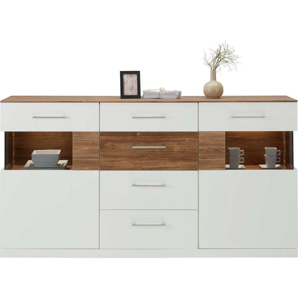 Sideboard in Weiß/akazie