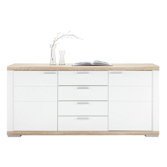 sideboard in wei hochglanz online kaufen m max. Black Bedroom Furniture Sets. Home Design Ideas