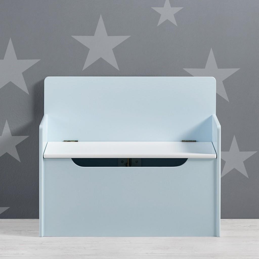 Sitzbank Star in Weiß und Hellblau