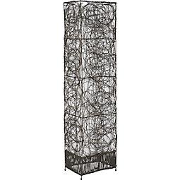 Stehleuchte Rotin - Dunkelbraun, Holz/Metall (30/18/110cm) - MÖMAX modern living