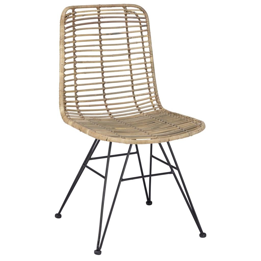 Stuhl aus Holz und Metall