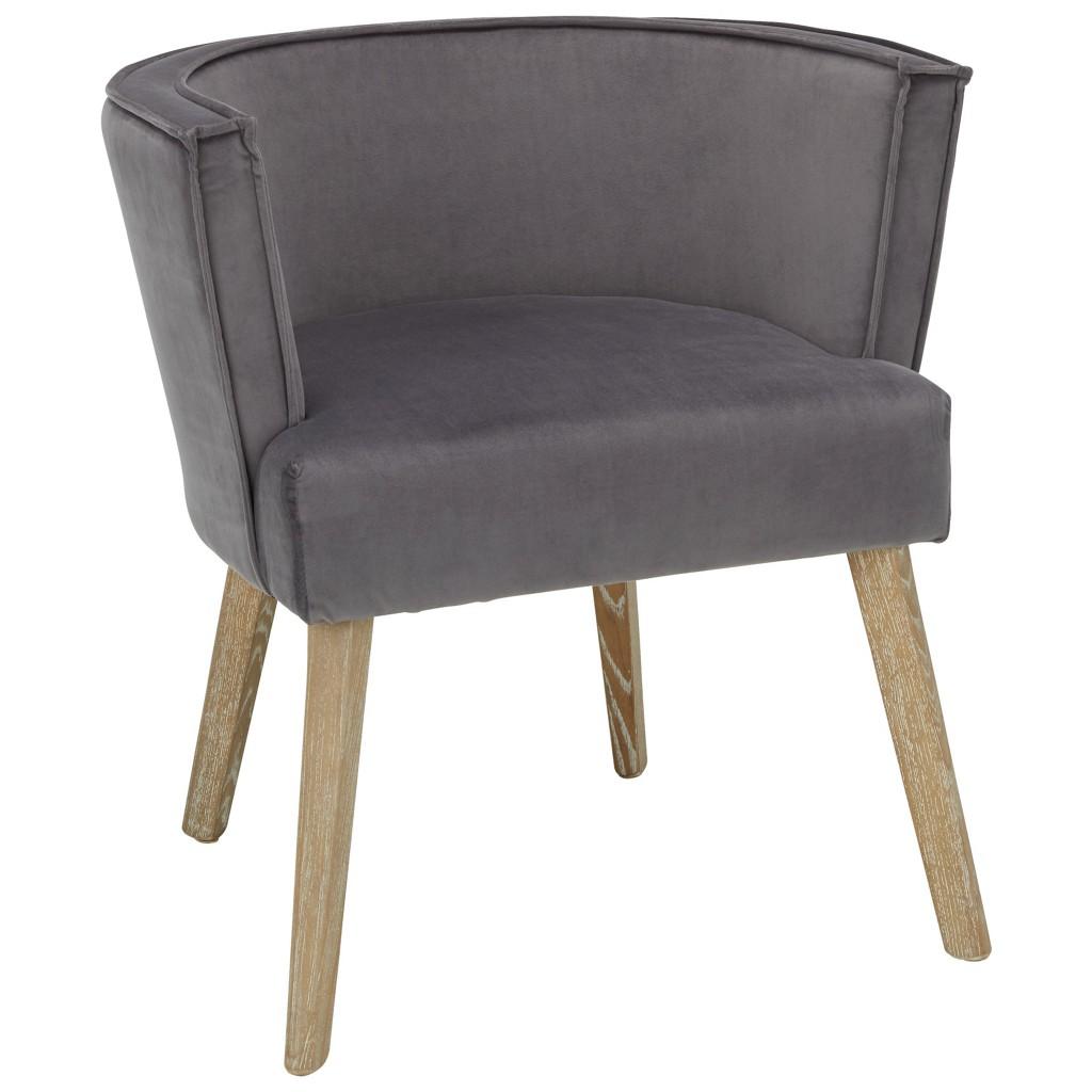 Stuhl in Grau/Naturfarben