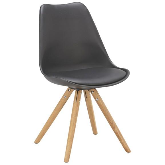 stuhl in schwarz eiche online kaufen m max. Black Bedroom Furniture Sets. Home Design Ideas