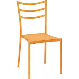 Stuhl Luigi - Orange, KONVENTIONELL, Kunststoff/Metall (40/81,5/46,5cm) - MODERN LIVING
