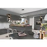 Vgradna Kuhinja Lux - barve skrilavca, Moderno, kovina/leseni material