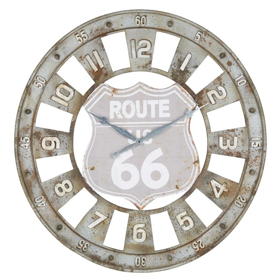 wanduhr route 66 ca 80x4cm online kaufen m max. Black Bedroom Furniture Sets. Home Design Ideas