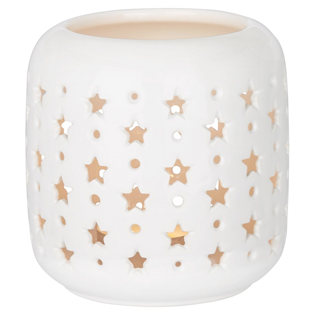 Windlicht Stern in Weiß