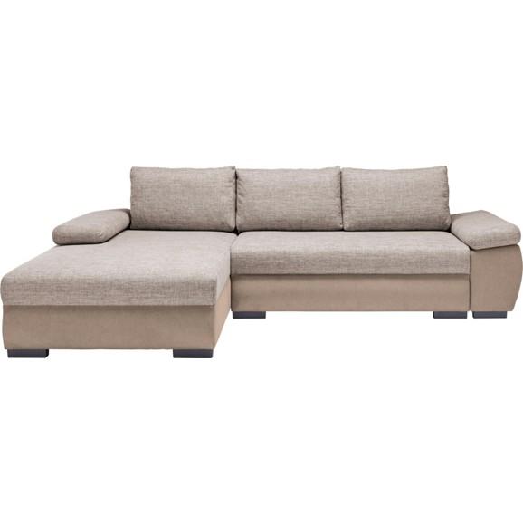 wohnlandschaft in beige mit bettkasten online kaufen m max. Black Bedroom Furniture Sets. Home Design Ideas