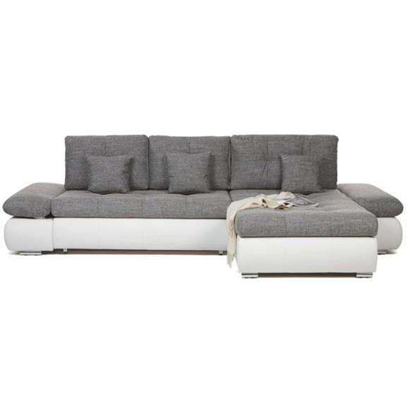 wohnlandschaft in wei grau online kaufen m max. Black Bedroom Furniture Sets. Home Design Ideas