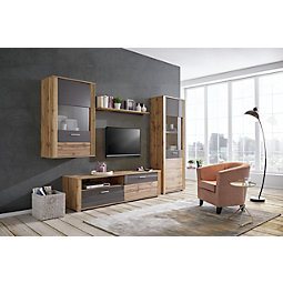 Wohnwand design grau  Wohnwände jetzt entdecken | mömax
