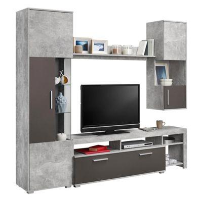 Wohnwand modern schwarz matt  Wohnwände & TV- Möbel jetzt entdecken | mömax
