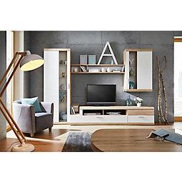 wohnwand in weiß online kaufen ➤ mömax - Wohnwand Weis Modern
