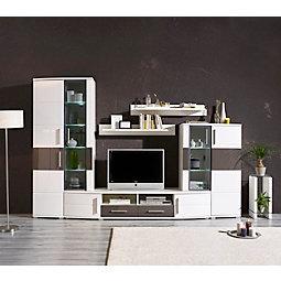 Wohnwand weiß hochglanz mit holz  Wohnwände & TV- Möbel jetzt entdecken | mömax