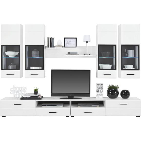 wohnwand in wei online kaufen m max. Black Bedroom Furniture Sets. Home Design Ideas