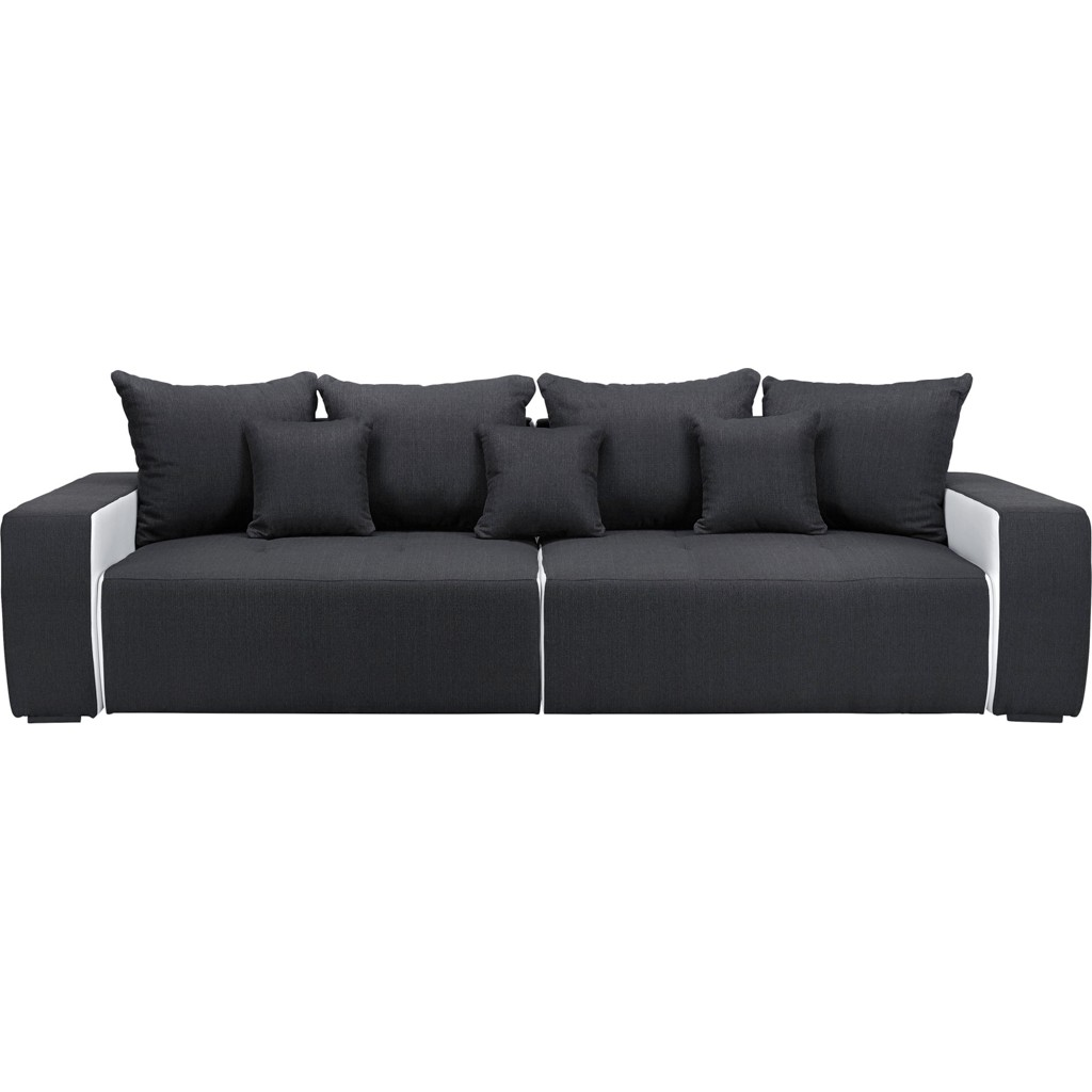 Bigsofa in Anthrazit/Weiß