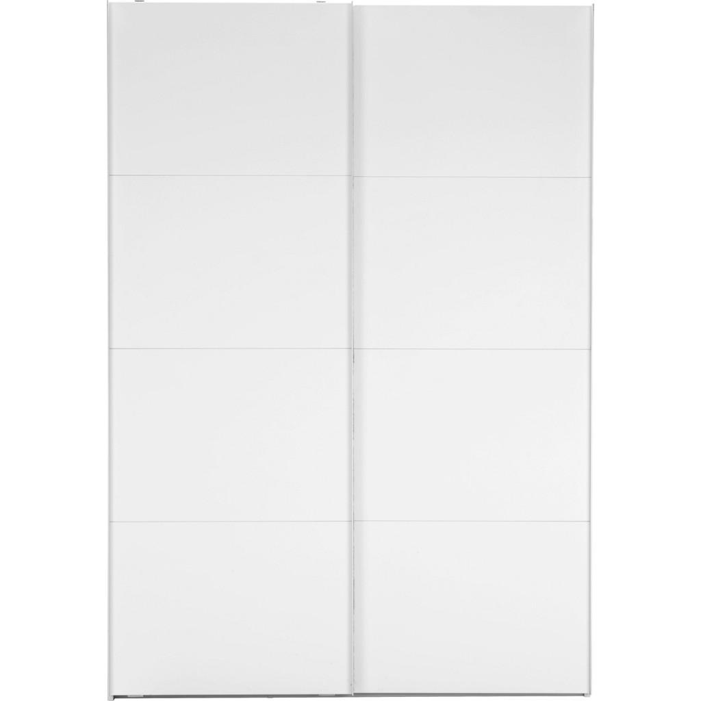 Schwebetürenschrank in Weiß mit 2 Türen