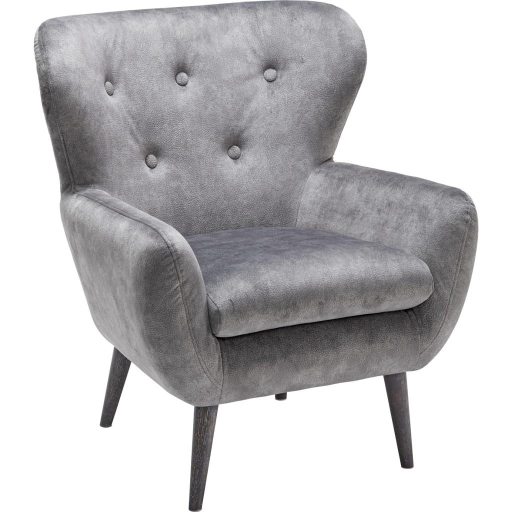 Sessel in Grau/schwarz