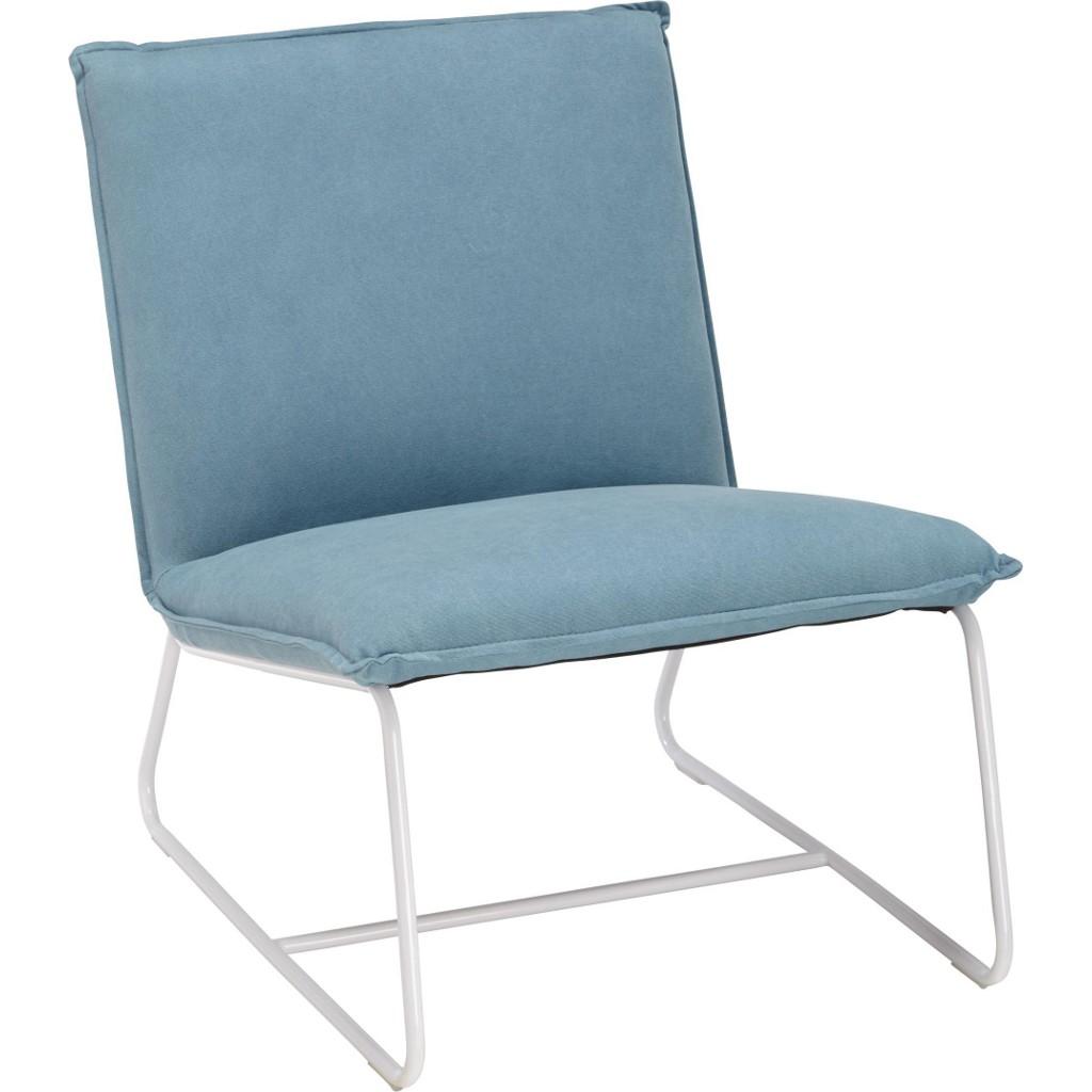 Loungesessel in Hellblau aus Baumwolle