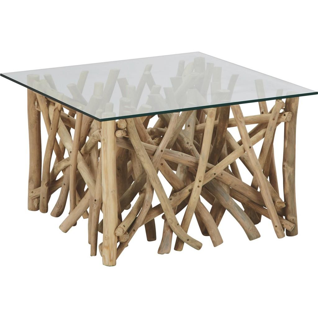 Couchtisch aus Holz/Glas