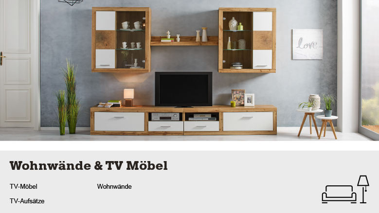 wohnw nde tv m bel online kaufen m max. Black Bedroom Furniture Sets. Home Design Ideas