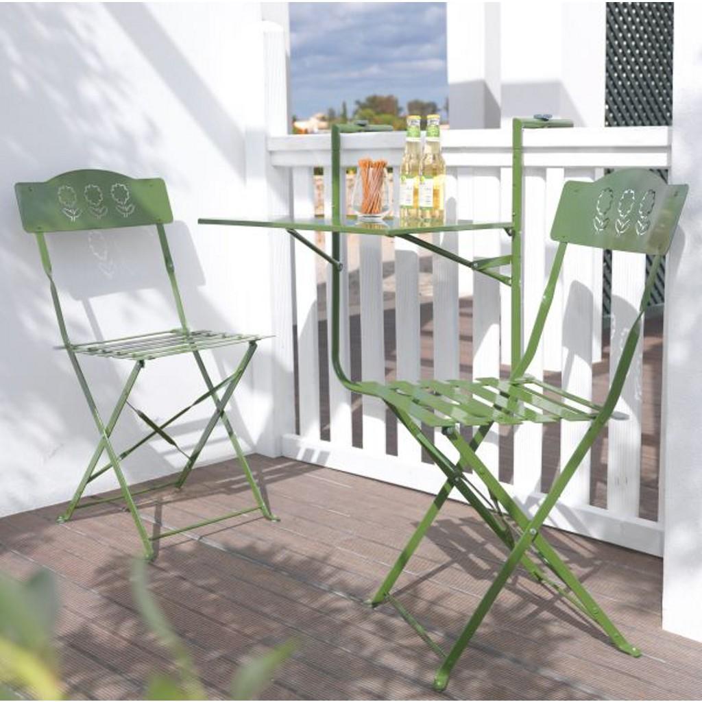 Balkonset Arianna 3-teiligl in Grün