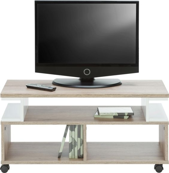 TV-Element in Weiß/Braun - TV-Möbel - Wohnwände & TV Möbel ...