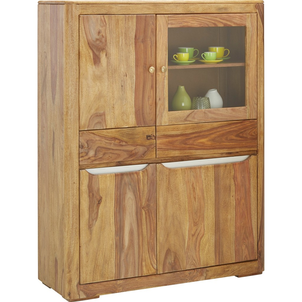 Highboard in Natur aus Echtholz