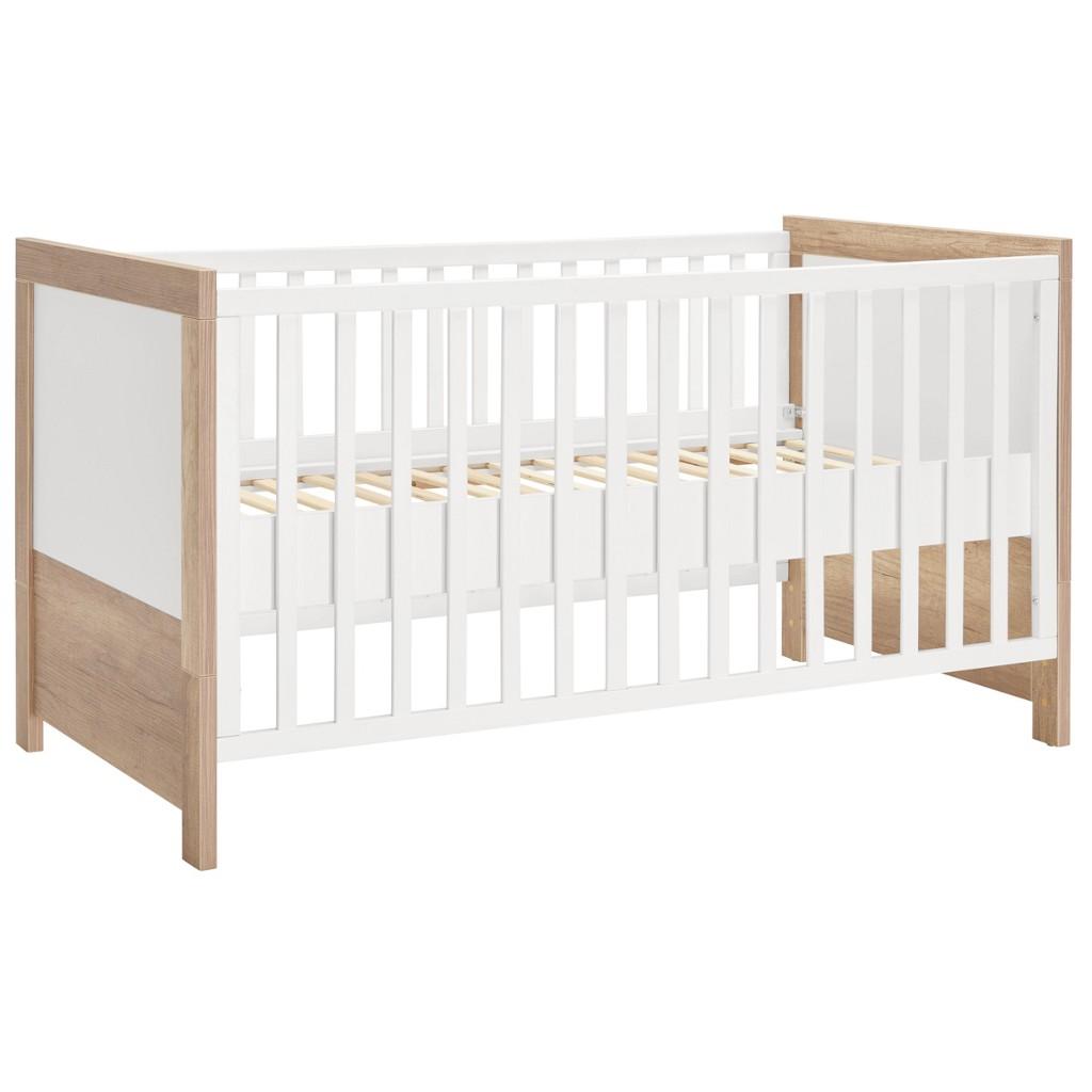 Kinder-/Juniorbett in Braun/Weiß, ca. 70x140cm