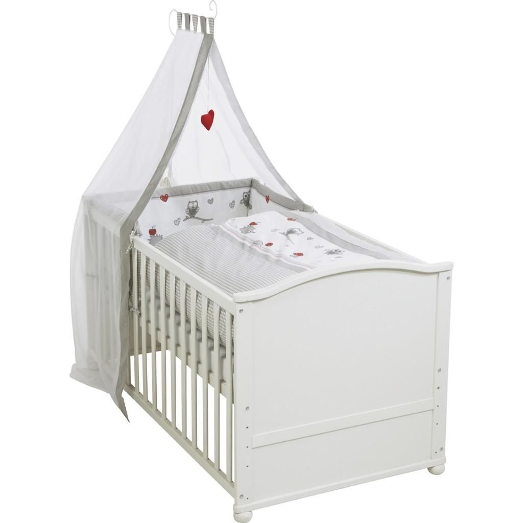 Kinderbettset in Weiß, ca. 140x70cm