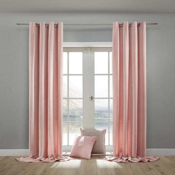 samtvorhang lucia in rosa ca 135x245cm online kaufen m max. Black Bedroom Furniture Sets. Home Design Ideas
