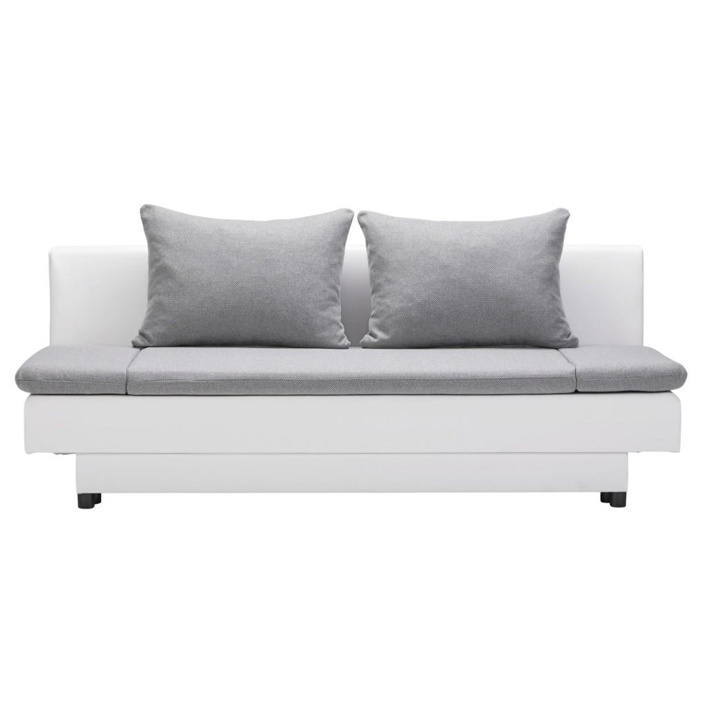 Schlafsofa in Weiß/Grau