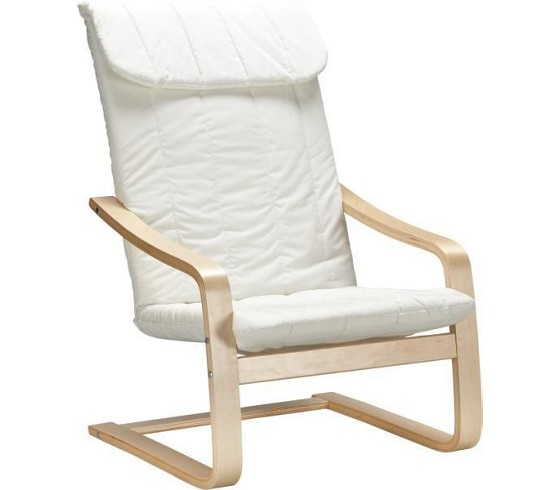 Schwingstuhl in natur aus baumwolle st hle barhocker for Schwingstuhl holz