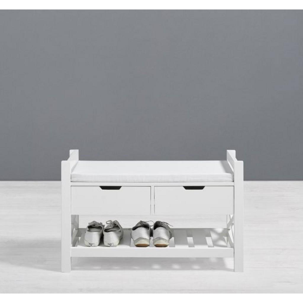 Sitzbank mit Schuhablage inkl. Kissen Rita