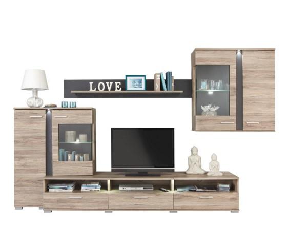wohnwand aus eiche wohnw nde wohnw nde tv m bel wohnzimmer produkte. Black Bedroom Furniture Sets. Home Design Ideas