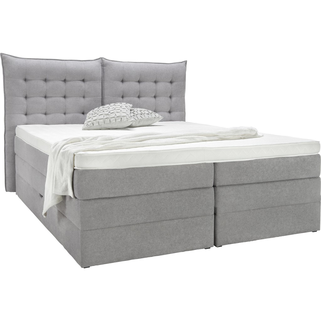 Bett in Grau, ca. 160x200cm