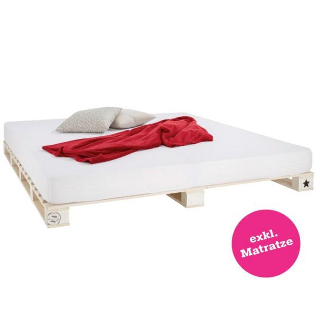 Bett in Weiß, ca. 180x200cm