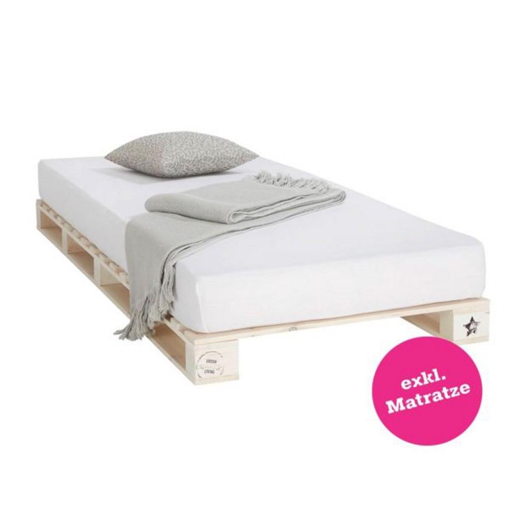 Bett in Weiß, ca. 90x200cm