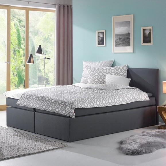 boxspringbett lucy in grau ca 180x200cm online kaufen m max. Black Bedroom Furniture Sets. Home Design Ideas