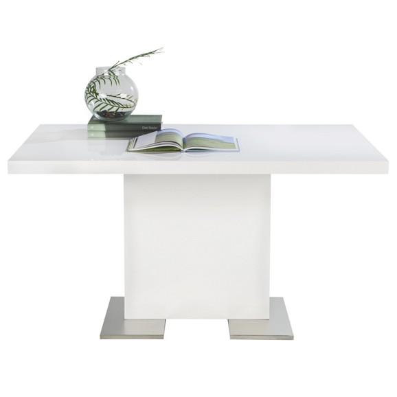 esstisch in wei chrom online kaufen m max. Black Bedroom Furniture Sets. Home Design Ideas