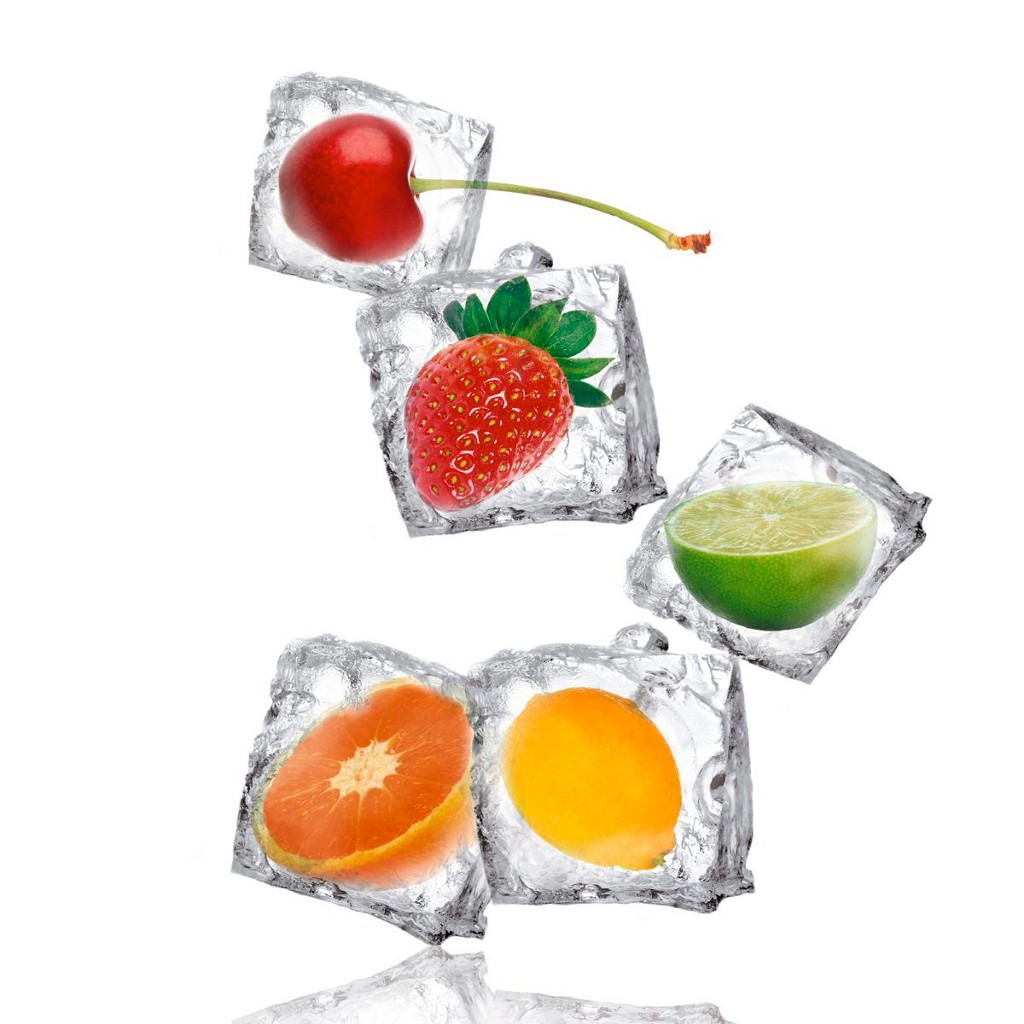 Glasbild Fruity Ice, ca. 30x30x2cm
