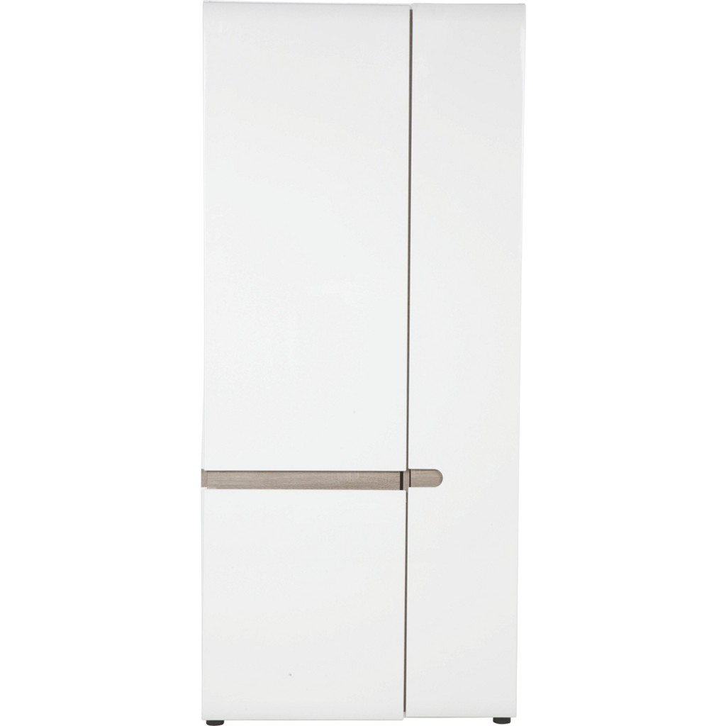 Kleiderschrank in Weiß mit 2 Türen