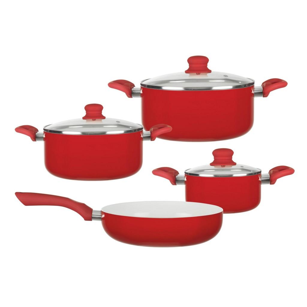 Kochtopfset Susi in Rot/Weiß