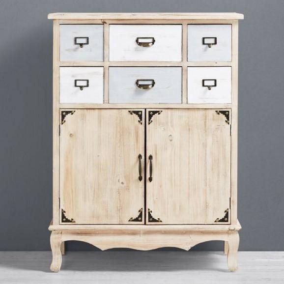 kommode giselle in natur wei im vintage stil online. Black Bedroom Furniture Sets. Home Design Ideas