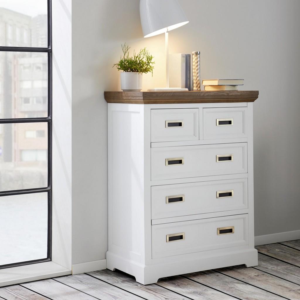 Kommode in Weiß aus Holz Melanie